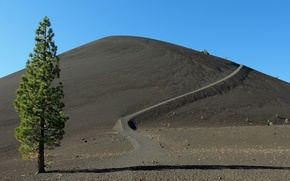 Picture mountain, morning, California, Lassen Volcanic National Park