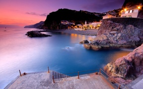 Picture water, The city, pier, Portugal, Ponta Do Sol, Madeira Island Portugal