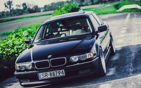 Picture BMW, Boomer, BMW, Black, Stance, E38, Bimmer, 740iA
