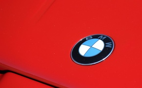 Picture BMW, red, badge