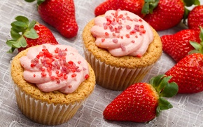 Picture food, strawberry, fruit, cream, food, fruit, sweet, sweet, strawberry, cream
