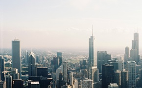 Picture the city, building, skyscrapers, Chicago, megapolis, the view from the top