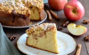 Picture Apple, pie, cakes, piece, Apple