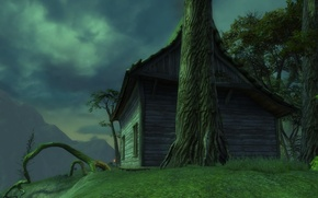 Picture house, tree, Rift