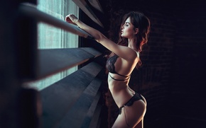 Wallpaper Girl, Sexy, Model, Beauty, Window, Gorokhov, Preset, Sofy