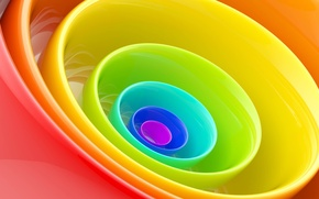 Picture Wallpaper, color, round, rainbow, ring, plate, Cup, dishes, bowl
