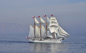 Picture barkentina, Esmeralda, (BE-43), the Chilean Navy, training, sailing ship