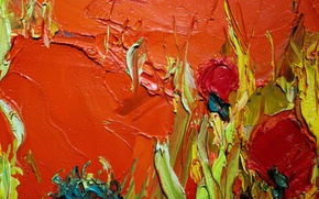Picture paint, oil, Oil texture