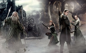 Wallpaper archer, Gandalf, The Lord of the Rings, Legolas, sword, staff, bow, archery, J.R.R. Tolkien, Gray ...