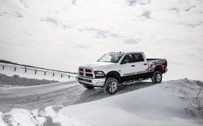 Picture winter, snow, Dodge, Dodge, pickup, Power Wagon, Crew Cab, 2014, Ram 2500