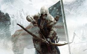 Picture meadow, assassin, Assassin's Creed III, Radunhageydu, Assassin's Creed 3, the half-breed Indian, Connor Kenuey