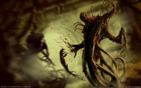 Wallpaper Dead Space, Mucus, Thing, Dead Space, Horror, Blood