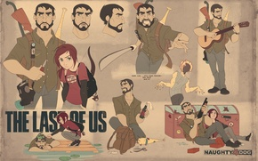 Wallpaper weapons, Ellie, art, The Last of Us, Joel, Naughty Dog, PlayStation 3, Some of us, ...