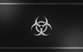 Picture black, biohazard, plastic
