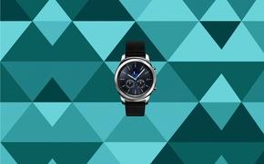 Picture moon, watch, Samsung, calendar, Samsung Gear S, hours, Samsung Gear, smartwatch