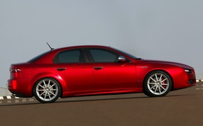Wallpaper machine, red, background, alfa romeo, 159