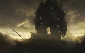 Picture rocks, Robot, iron