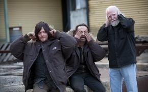 Picture Scott Wilson, Andrew Lincoln, actors, The Walking Dead, Norman Reedus