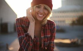 Picture look, girl, smile, model, shirt, Alysha Nett