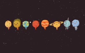Picture Planet, Cartoons, solar system, Planets