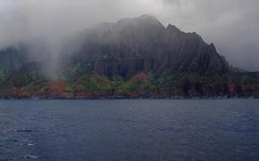 Picture mountains, nature, coast, mountainous coast
