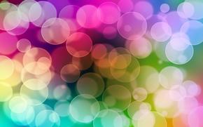 Picture color, light, circles