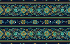 Picture flowers, green, pattern, ornament