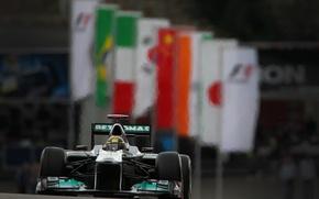 Picture Mercedes GP, Formula 1, Mizael Schumacher, Belgium 2011, Yubileynaya race