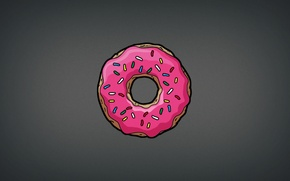 Picture the simpsons, Homer, food, donut