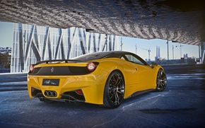 Picture Ferrari, Ass, Yellow, Italy, Ferrari, 458, Yellow, Italia, Supercar, Rear