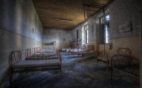 Wallpaper background, hospital, bed