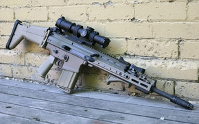 Picture weapons, machine, rifle, assault, FN SCAR