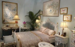 Picture room, bed, interior