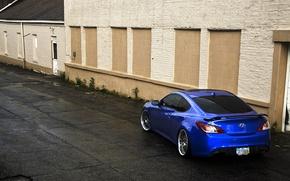 Picture tuning, Hyundai, Coupe, blue, Genesis, Hyundai