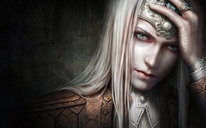 Picture wall, art, guy, decoration, face, tnt, Diadema, fantasy, ring