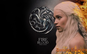 Picture game of thrones, daenerys, blood and fire