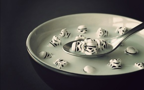 Picture milk, Star Wars, spoon, stormtroopers, cereal