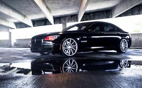 Picture BMW, Black, vossen wheels, 750LI