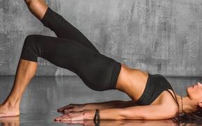 Picture posture, pose, yoga, sportswear