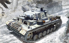 Picture Figure, Ausf.N, Medium tank, Leningrad 1943, w/winter tracks, s. Pz.Dept.502, German, Pz.Kpfw.III