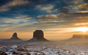 Picture the sun, rocks, morning, Desert, AZ