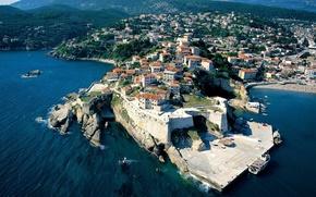Picture sea, the city, Adriatica, Montenegro, Ulcinj