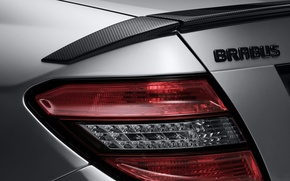 Wallpaper headlight, optics, metallic, brabus, mercedes benz