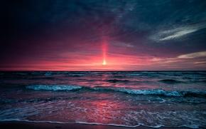 Wallpaper sea, the sky, Sunset, sunset