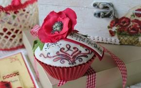 Wallpaper flower, Mac, the sweetness, cake
