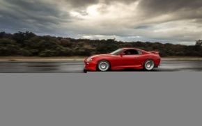 Picture turbo, red, supra, japan, toyota, jdm, tuning, race, speed