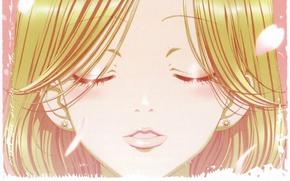 Picture face, art, closed eyes, ai yazawa, Nan, nana, hachi, nana komatsu