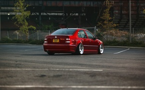 Picture red, tuning, volkswagen, red, Volkswagen, jetta, MK4