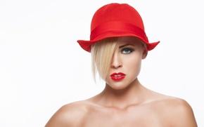 Picture photostudio, red girl, stas voropaev