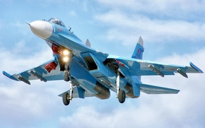 Picture flight, fighter, su-27